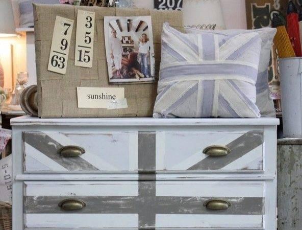 Shabby Chic Union Jack Dresser Painted Furniture Pinterest