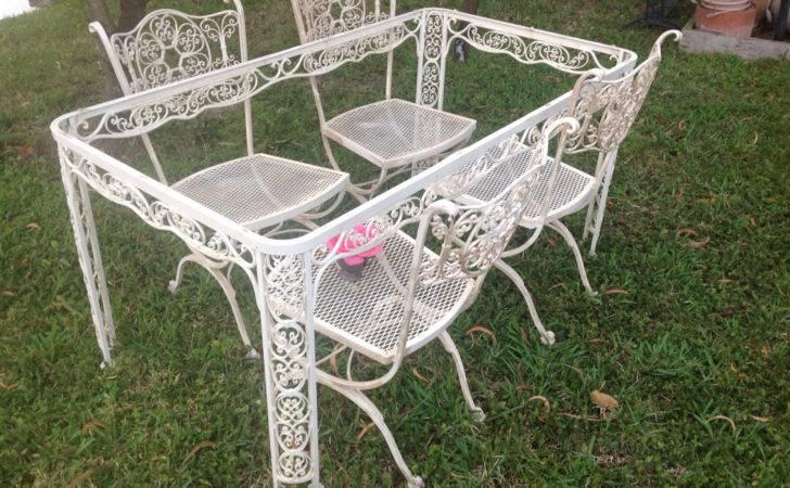 Shabby Chic Woodard Wrought Iron Chairs Vintage Retrodaisygirl