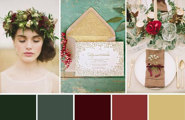 Shades Season Winter Wedding Colour Palette