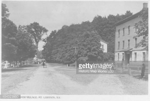 Shaker Photograph Collection Shows Street Village