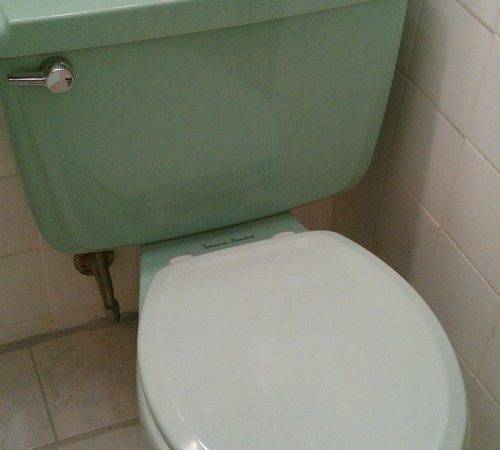 Shall Trash Green Retro Bathroom
