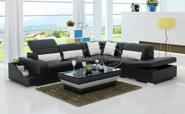 Shape Corner Sofa Set Designs Modern Shaped Leather
