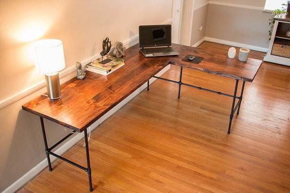 Shape Desk Reclaimed Industrial Wood