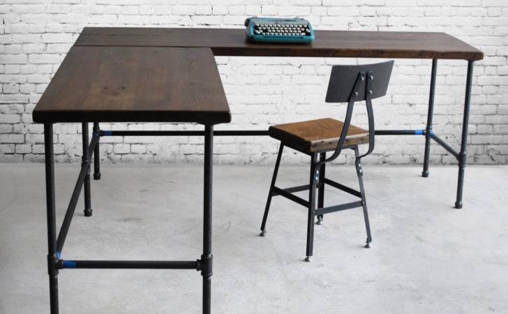 Shape Desk Reclaimed Wood Made Order Urbanwoodgoods