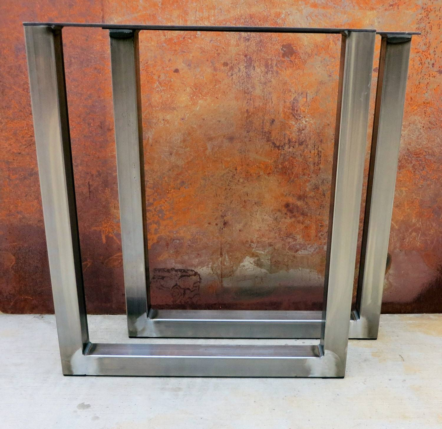 Shape Metal Table Legs Steelimpression Etsy