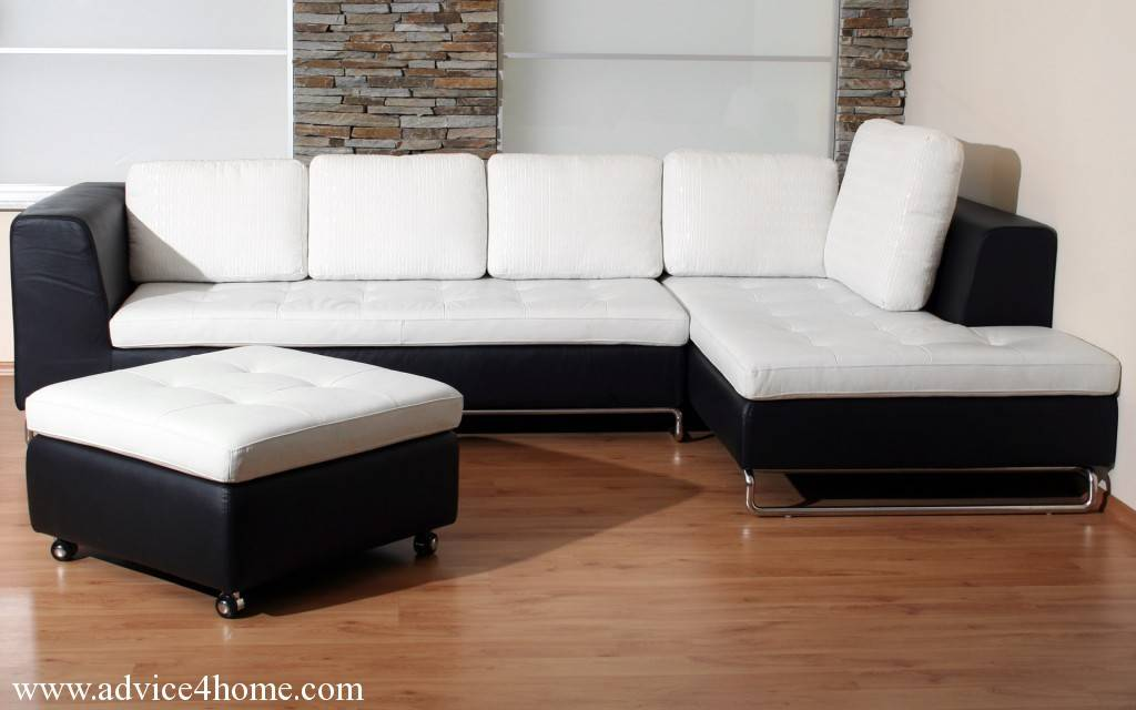 Shape Sofa Set Designs White Black