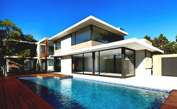 Shaped Cool House Plans Pool Middle Home Interior
