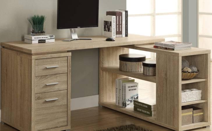 Shaped Desk Reclaimed Wood Desks Hutches