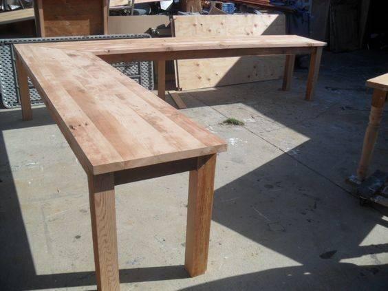 Shaped Desk Wood Furniture Reclaimed Study Design Desks Forward