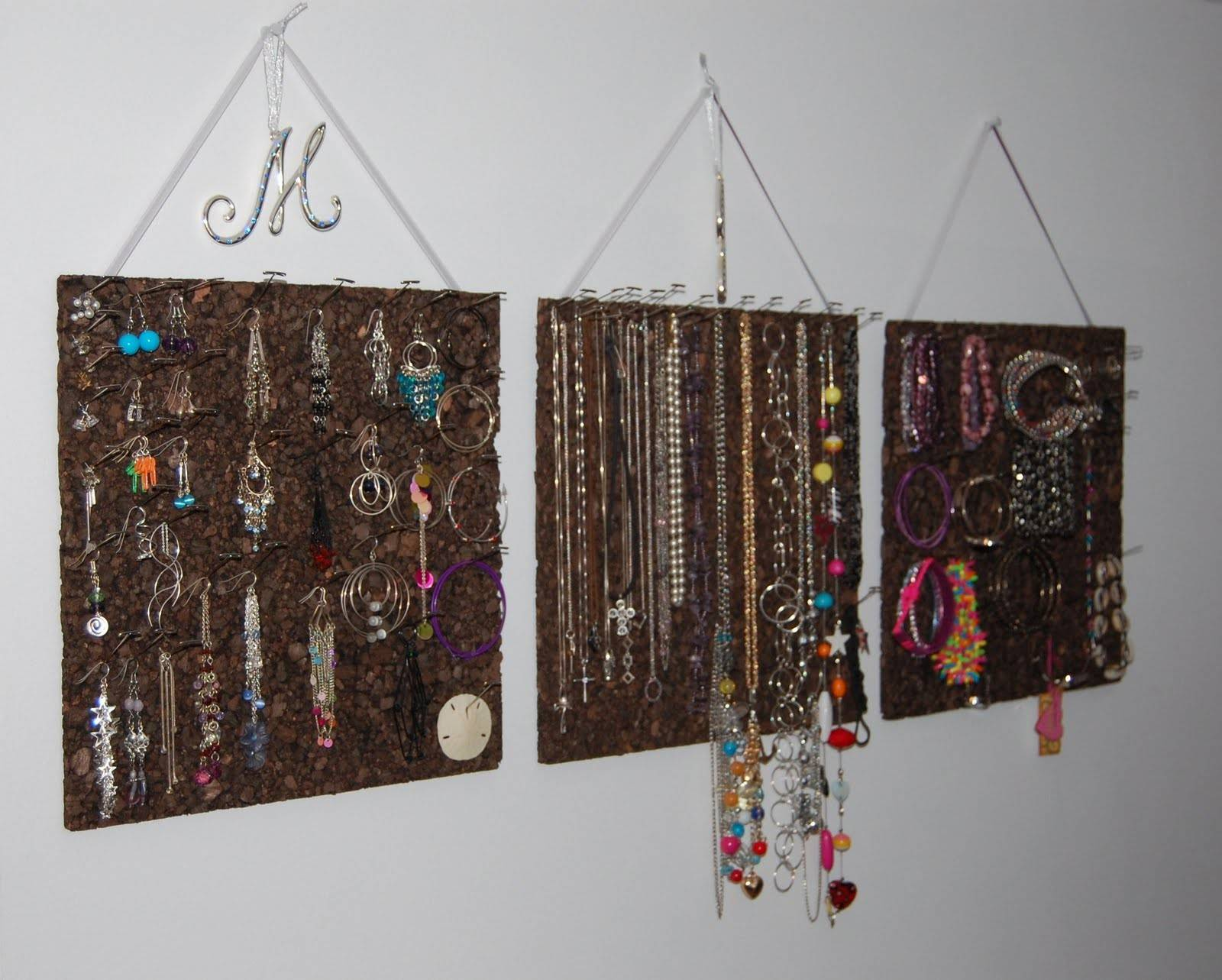 Sharing Caring Cork Board Jewelry Organizer