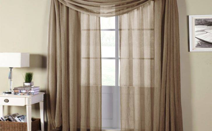 Sheer Curtain Valances Semi Rod Pocket Curtains