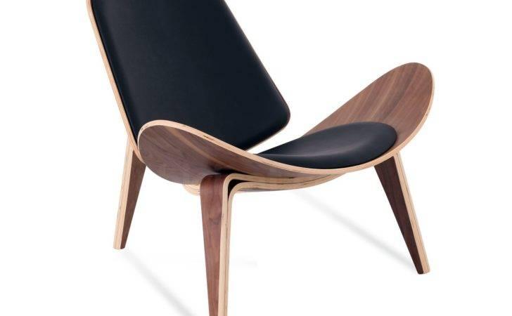 Shell Chair Hans Wegner Leather Platinum Replica