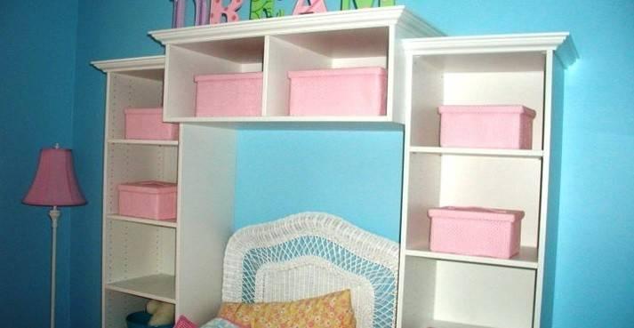 Shelves Around Bed Definitely Not Pink Buckets Instead