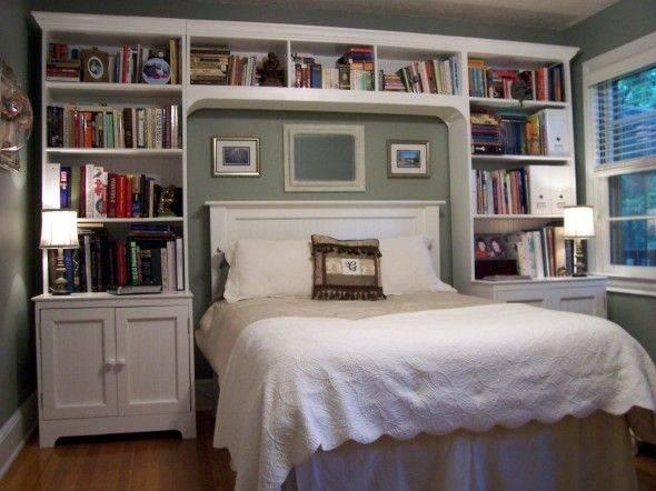Shelves Pinterest Cozy Place Headboard Bed