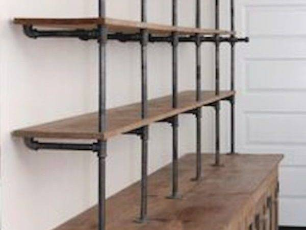 Shelving Garage Shelf Industrial Pipe Shelves Storage Ideas