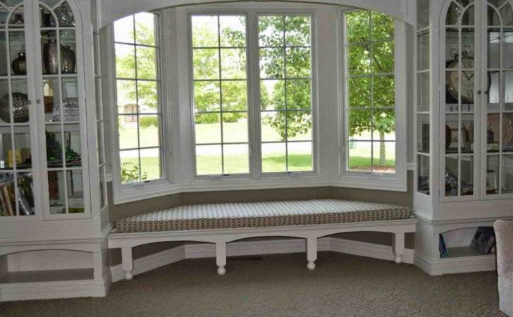 Shelving Window Seat Two Bookcase Under