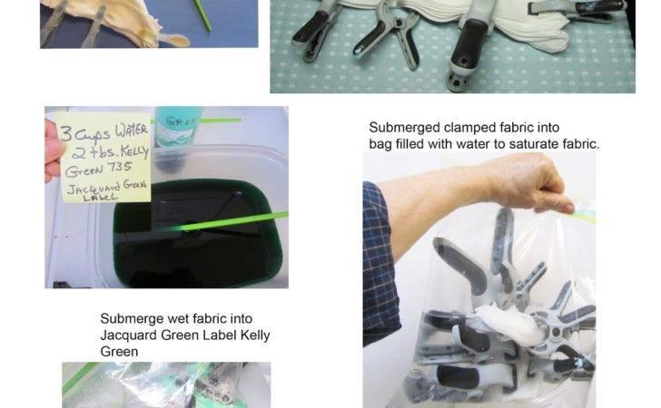 Shibori Folding Using Clamps