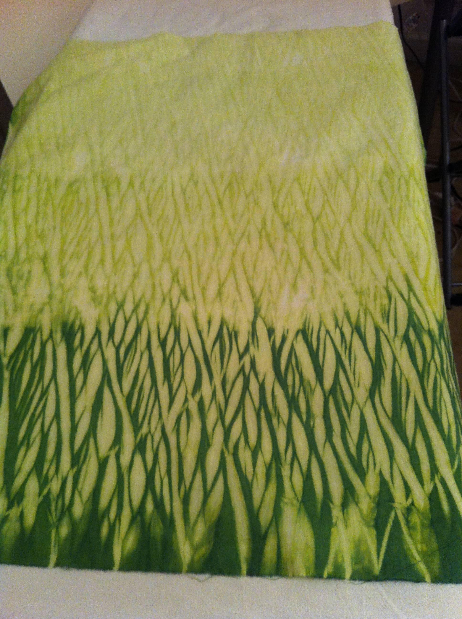 Shibori Pole Wrapping Textiles Tawny