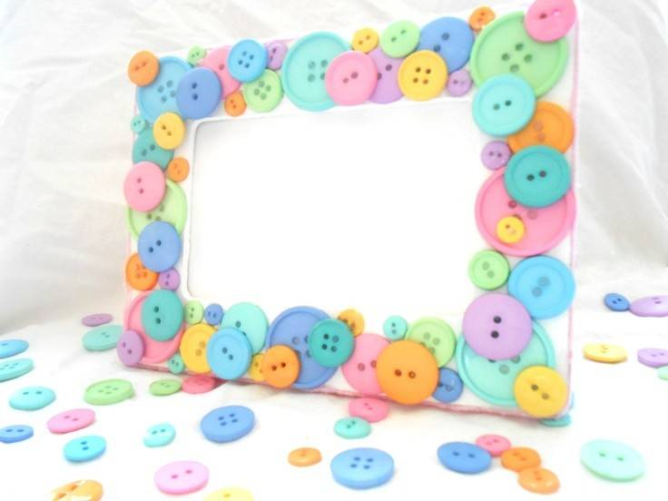 Shipping Baby Pastel Cute Button Frame