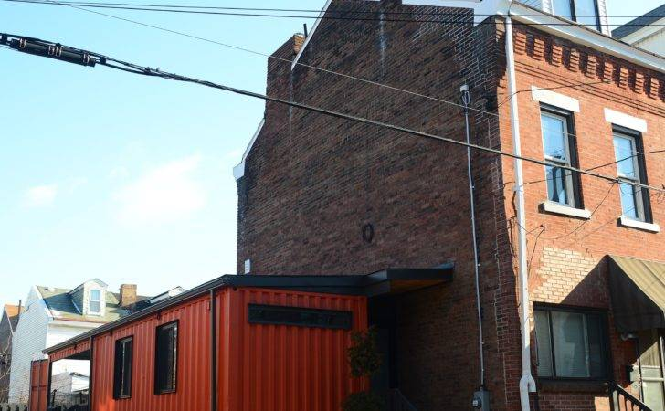 Shipping Container Becomes Addition Lawrenceville Row House