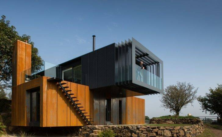 Shipping Container Home Acts Like Sculpture Irish Land