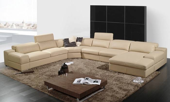 Shipping Latest House Designs Moden Leather Sofa