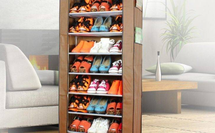 Shoe Rack Stand Holds Pairs Cabinet Storage