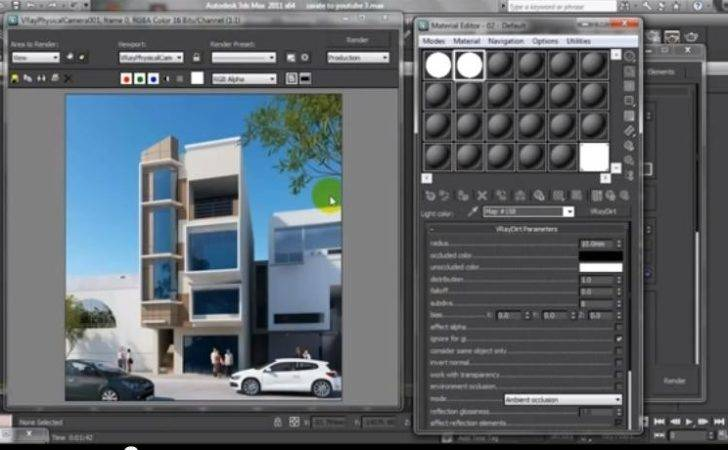 Show Create Easy Ambient Occlusion Vray Max