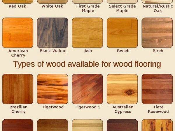 Shows Many Types Wood Available Flooring