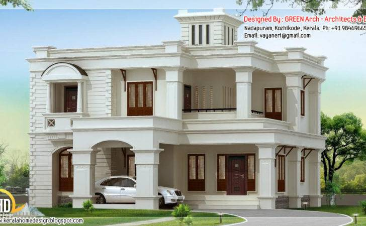 Side Square Feet Bhk Flat Roof Home Design