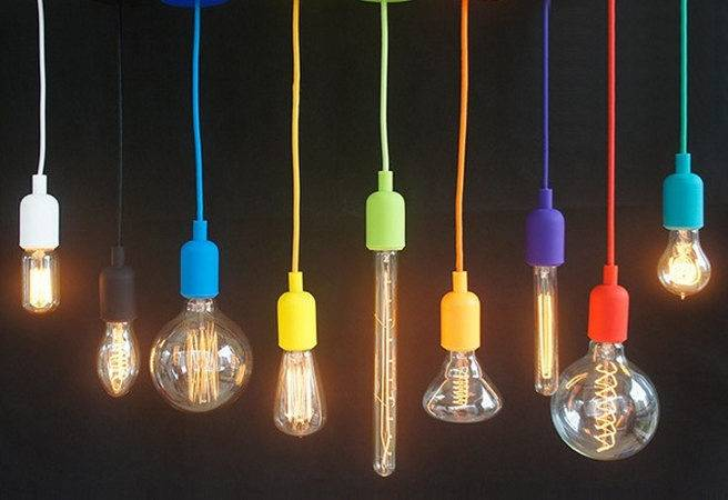 Silicone Color Cord Pendant Hanging Lamp Hangoutlighting