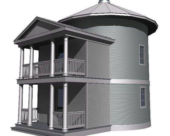 Silo House Pinterest Grain Round Container Homes