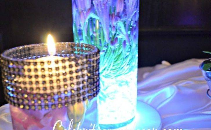 Silver Sparkly Brooches Led Centerpiece Sweet Ideas