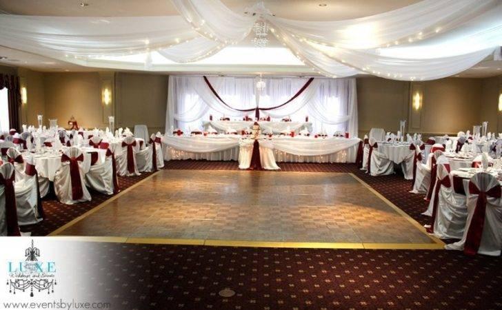 Similiar Burgundy Silver Wedding Decorations Keywords