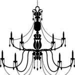 Simple Chandelier Drawing Whatcanigive Info