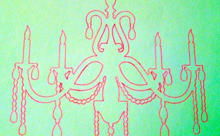 Simple Chandelier Drawing