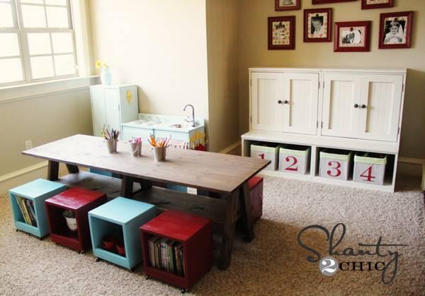 Simple Playroom Ideas Kids Table Diy Shanty Chic