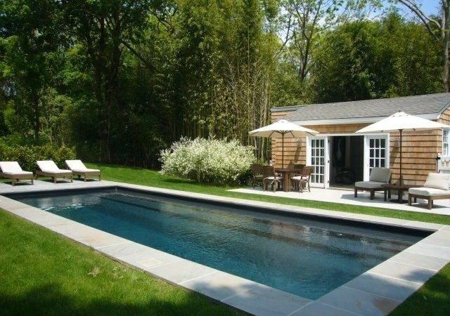 Simple Rectangular Pool Landscape Design Pinterest