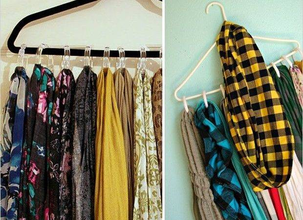 Simple Scarf Organizer Hanger Shower Curtain Rings Easy
