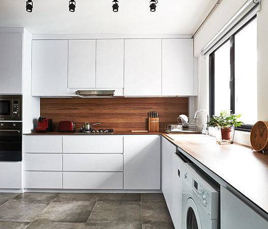 Simple Wood White Kitchens Home Decor Singapore