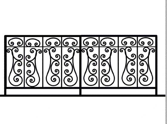 Simple Wrought Iron Pattern Old World Designs