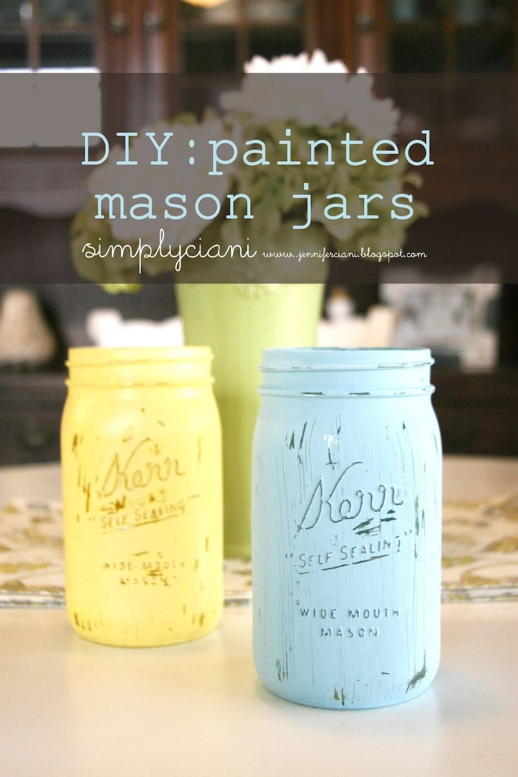 Simply Ciani Diy Painted Mason Jars