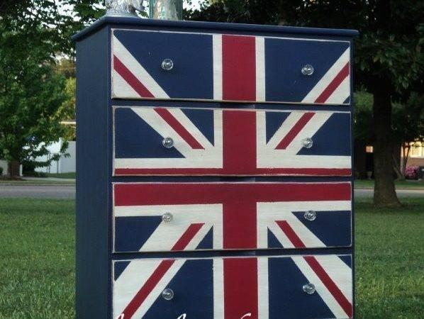 Simply Salvaged Union Jack Dresser