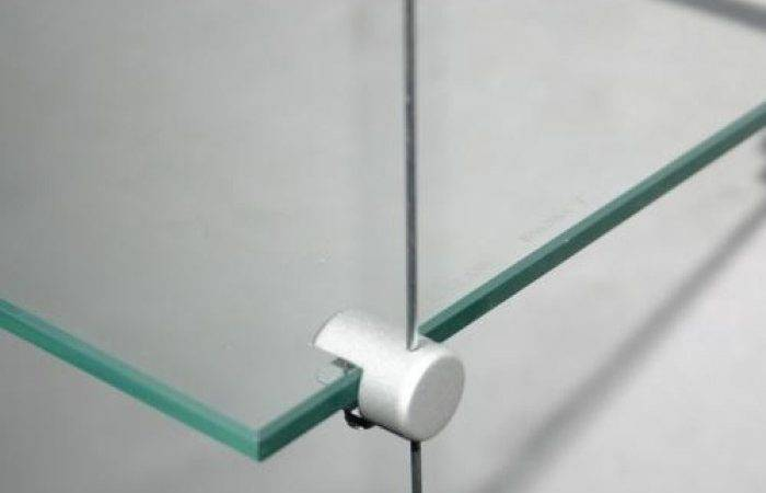 Single Glass Shelf Holders Cable System Brass Pack