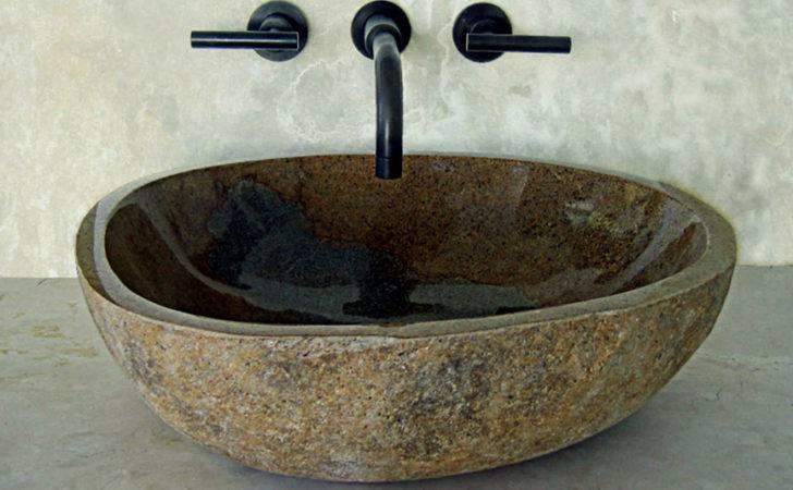Sinks Glass Vessel Custom Sinksriver Rock Amber Granite Sink