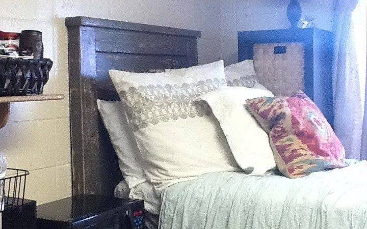 Sized Dorm Room College Wood Headboard Bohemian Rustic Modern
