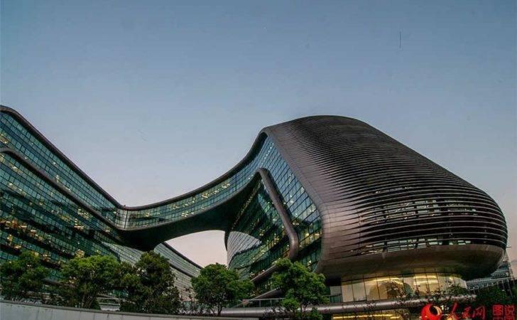 Sky Soho Shanghai Iconic Landmark Building China
