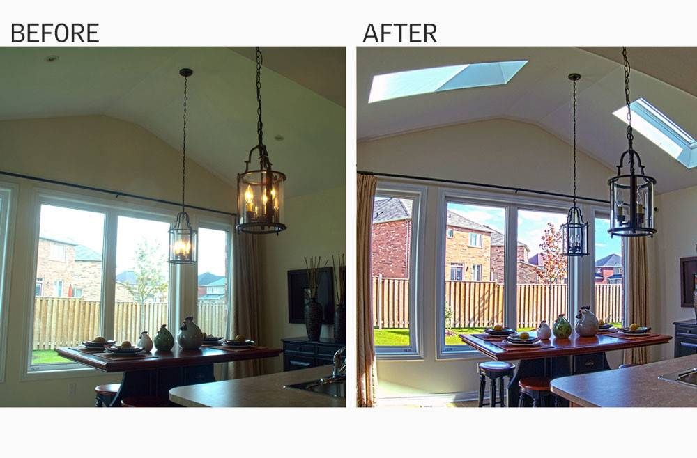 Skylight Before After Installations