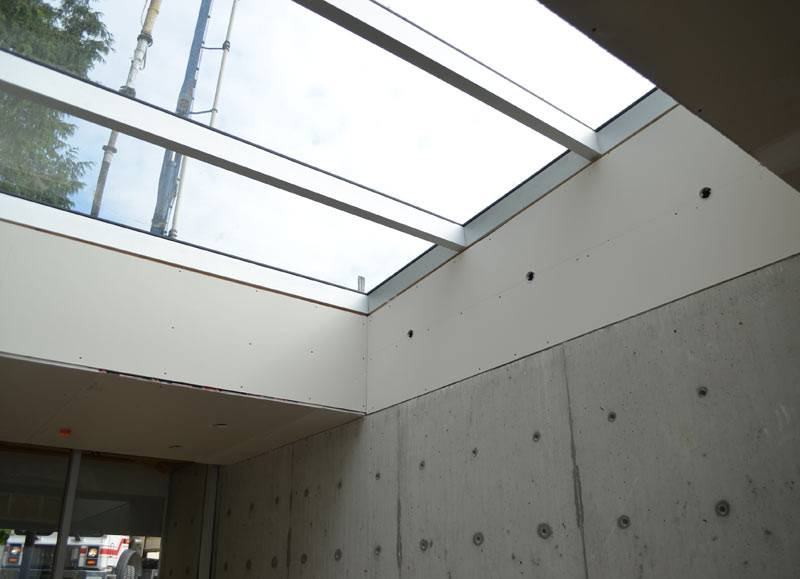 Skylight Inside Low Slope Curtain Wall