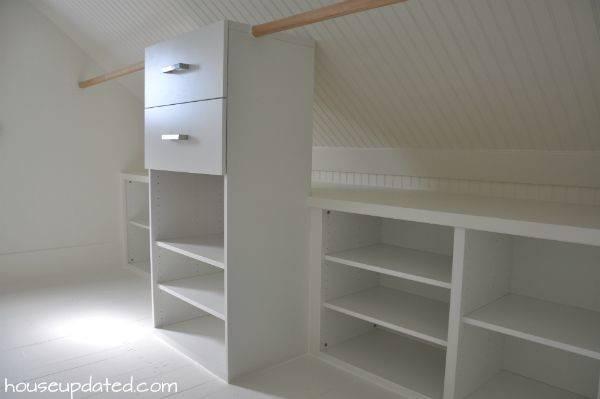 Slanted Ceiling Closet Closets Pinterest